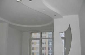 Многоуровневые потолки из гипсокартона фото: